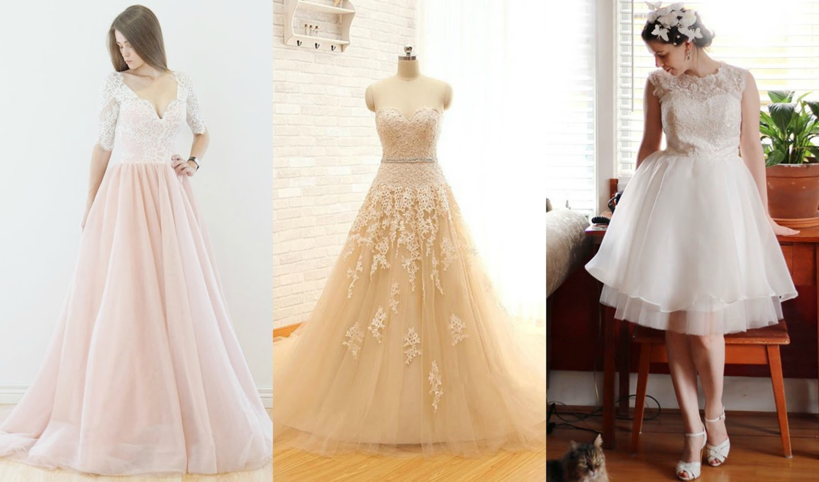 Unique Wedding Dresses Com: Unique Color Wedding Dress Inspiration