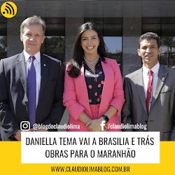 Daniella Tema vai a Brasilia e trás obras para o Maranhão,