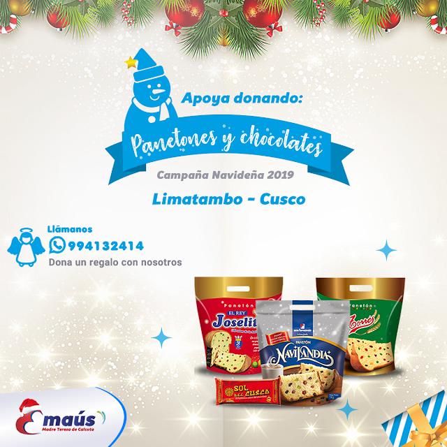 """""""Dona panetones y chocolates en Navidad"""""""