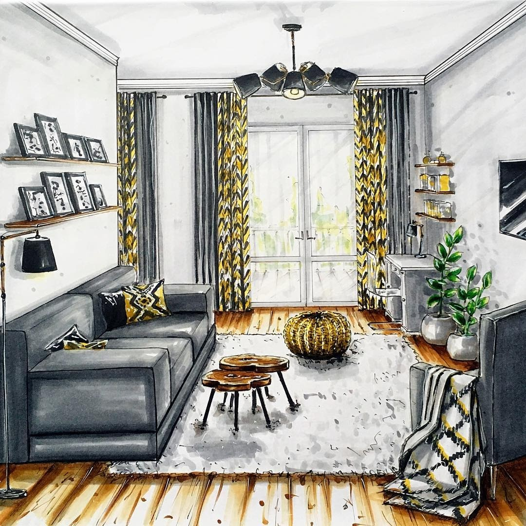 10-Living-Room-Natalia-Pristenskaya-Дизайнер-интерьеров-Interior-Design-Sketches-www-designstack-co