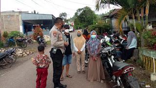 Sambang Dan Patroli Kamtibmas, Kapolsek Curio Polres Enrekang Berikan Himbauan Kamtibmas