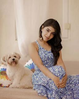 Pavithra Lakshmi Stunning Stylish Dress and Laying Poses