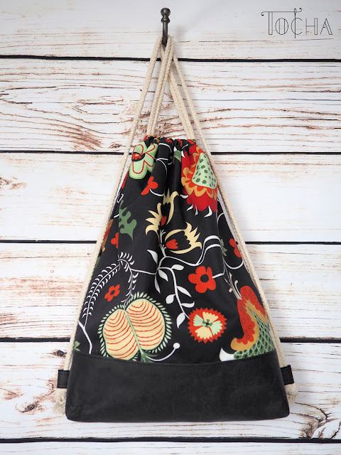 drawstring, canvas, Ikea, Better Cotton Initiative, washpapa, washable paper, craft paper, vegan leather, backpack, rucksack, beach bag, rosenrip, rope-tie, berry,