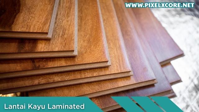 lantai kayu tempel