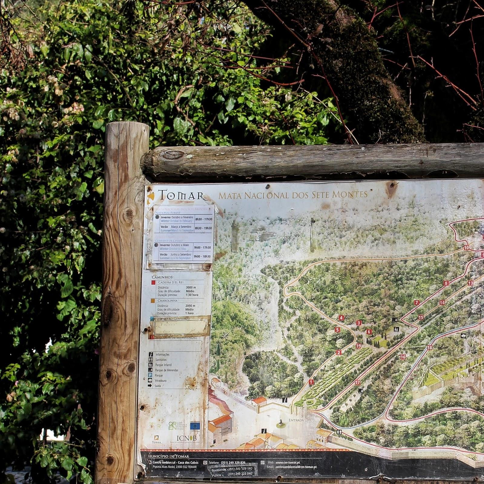 Cerca Conventual: Mata Nacional dos Sete Montes, Tomar