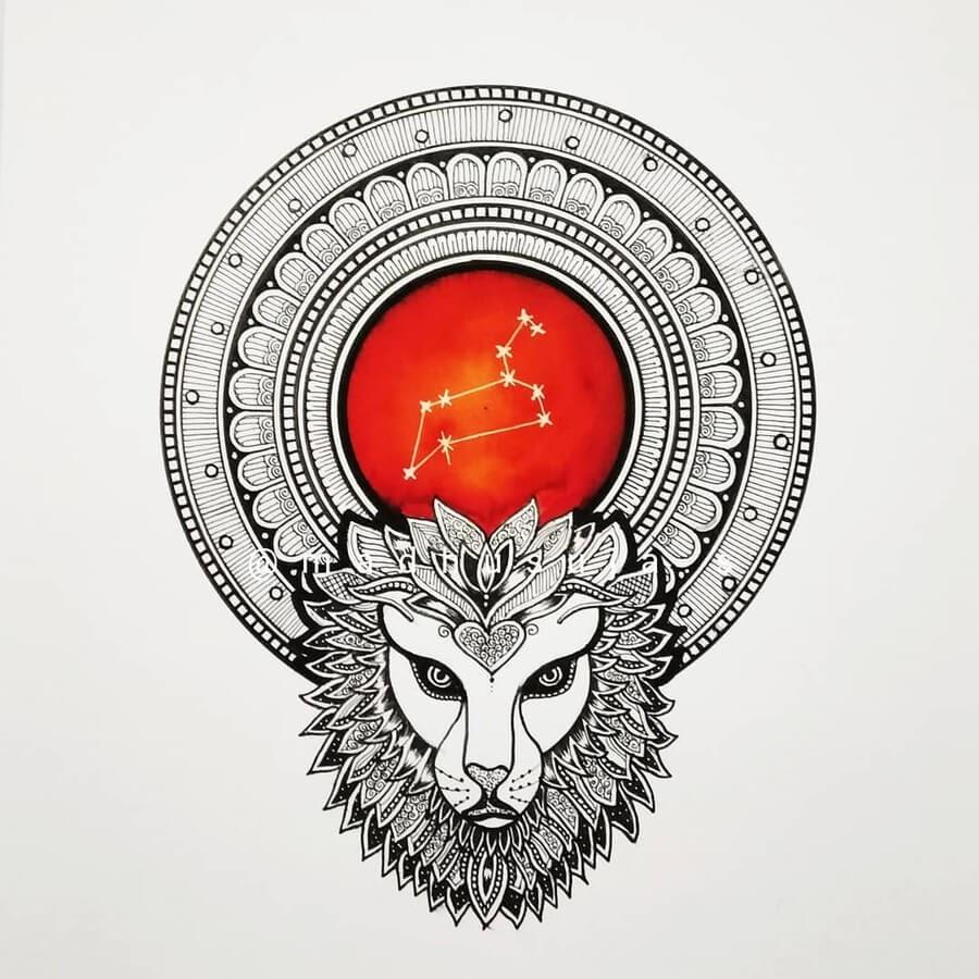 05-Zodiac-sign-Leo-Madhusuja-www-designstack-co