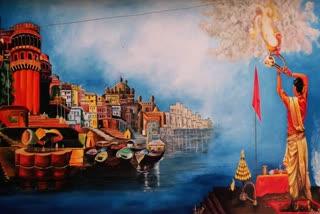 banaras-painting-in-jamshedpur-wall