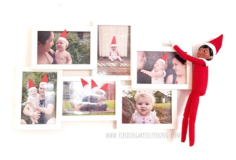 elf hats on family photos