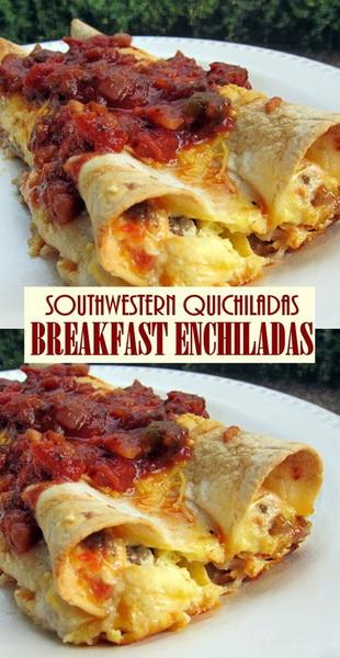 SOUTHWESTERN QUICHILADAS - BREAKFAST ENCHILADAS