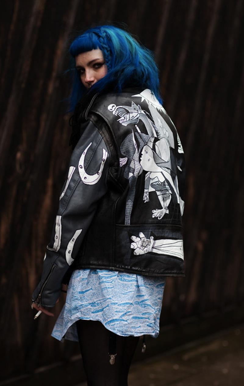 Painting leather jacket