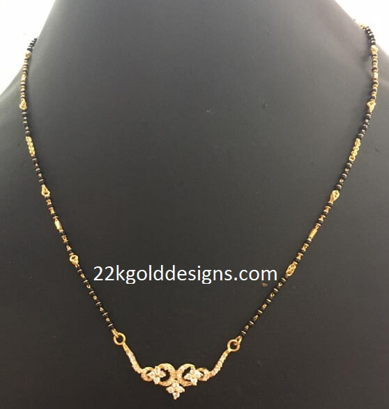d920247a4f3cc Simple Gold Nallapusalu - 22kGoldDesigns