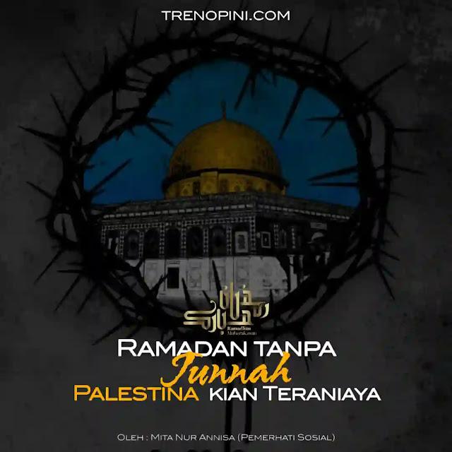Meringkuk rintih saat melihat saudara muslim kita terus menjadi sasaran empuk bangsa Israel yang tiada henti mengusik ketenangan muslim Palestina. Tanpa memandang keadaan, bahkan di saat bulan Ramadan pun mereka masih saja menyiksa saudara muslim di sana hingga mengganggu kekhusyukan ibadah puasa. Serta melakukan pelarangan dari berbagai sudut, yakni melarang penggunaan Masjid Al Aqsha, melarang azan, mereka diserang oleh polisi Israel, penyerangan artileri dan udara di Jalur Gaza.