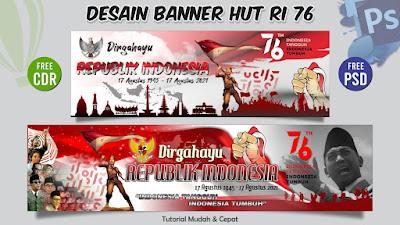 Spanduk Banner HUT RI 76 PSD