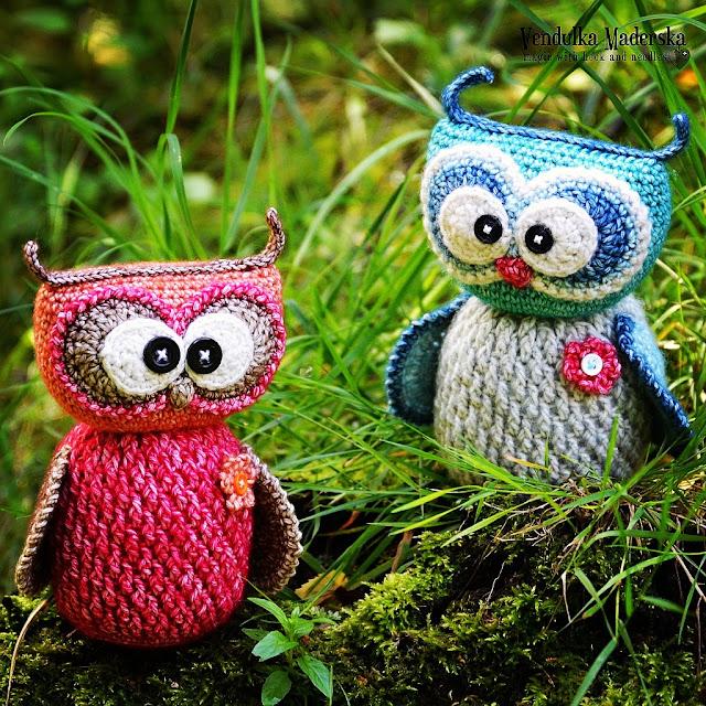 crochet owl by Vendula Maderska