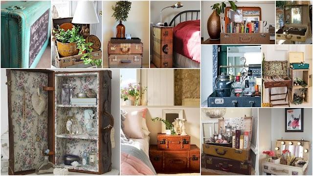 Διακοσμήσεις και Κατασκευές με παλιές Βαλίτσες