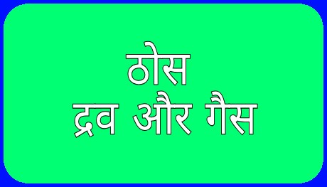 ठोस, द्रव और गैस [Solid, Liquid And Gas in Hindi]