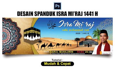 Desain Banner Isra Mi'raj 1441 H