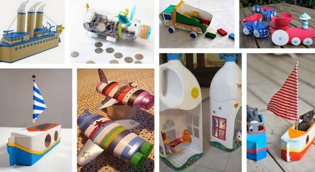 40+ Κατασκευές για παιδιά από άδειες Συσκευασίες