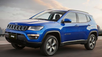 2017 Jeep Compass Blue side view