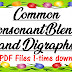 Common Consonant Blends and Digraphs