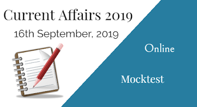 16th September, 2019 Current Affairs Online Mock Test in Bengali