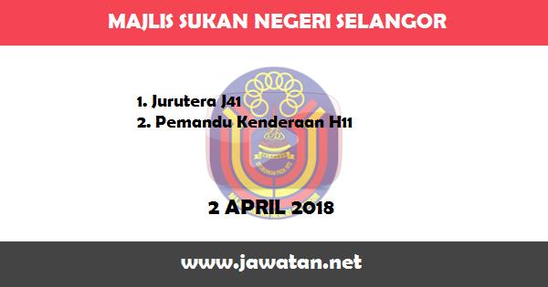 Jobs in Majlis Sukan Negeri Selangor (2 April 2018)