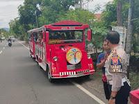 Polres Ponorogo lakukan penindakan tegas terhadap kereta kelinci yang masih beroperasi di jalan umum.