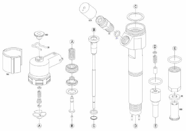 INJECTION-AUTOMOTIVE: 0445110410 BOSCH-INYECTOR C.RAIL CRI