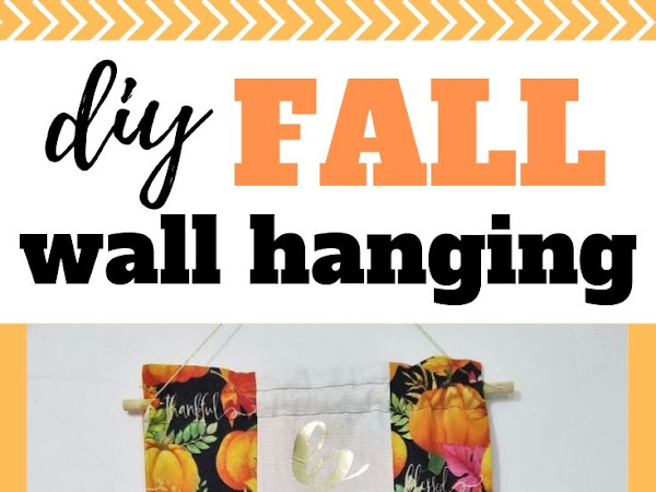 DIY Reversible Fall Wall Hanging