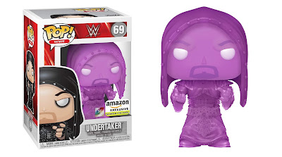 Amazon Exclusive 2020 Exclusive WWE Hooded Undertaker Glow Edition Pop! Vinyl Figure by Funko