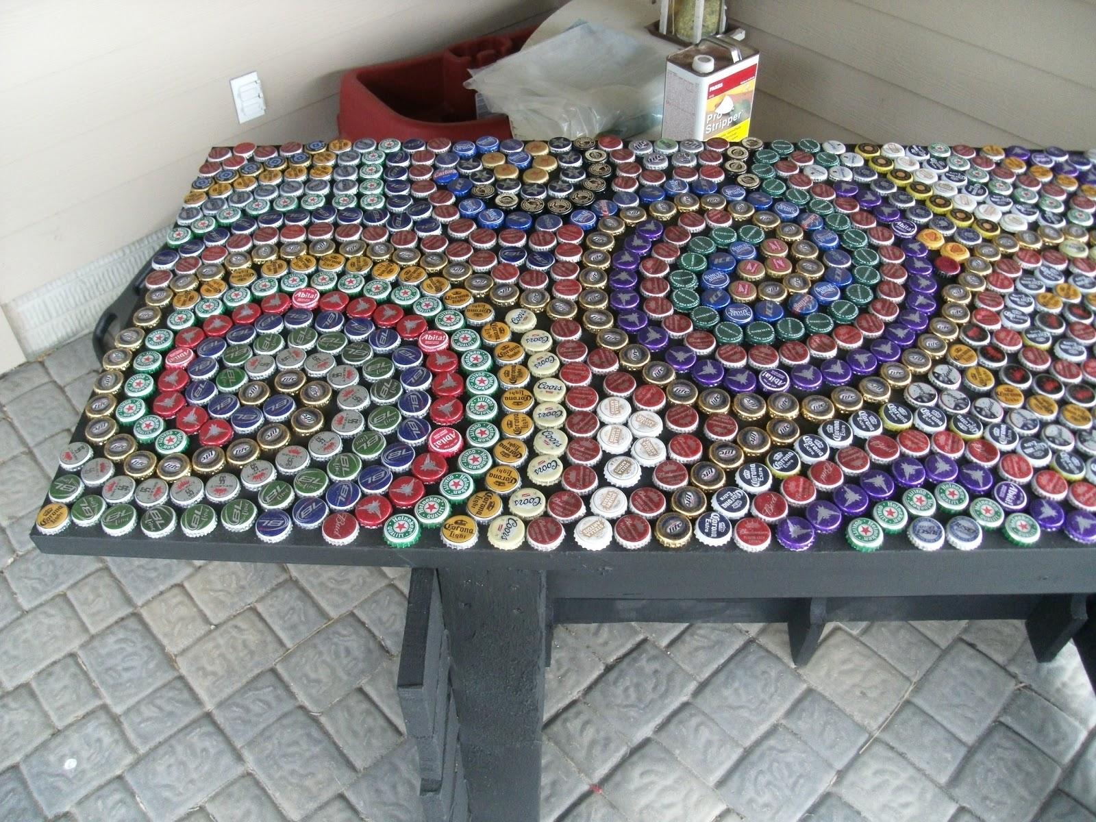 My Art/Projects: bottle cap countertop