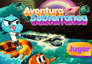 Jugar Juego Aventura Subterranea de Gumball y Darwin