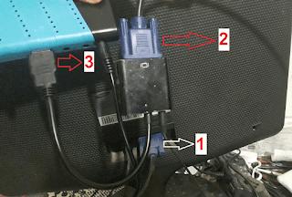 ربط جهاز استقبال hd مع شاشة حاسوب