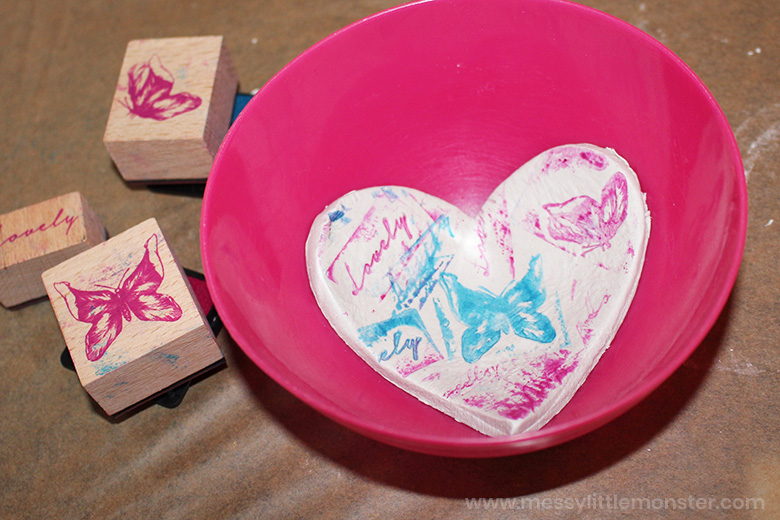 clay bowl heart craft