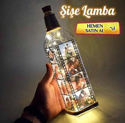 film şeridi şişe lamba