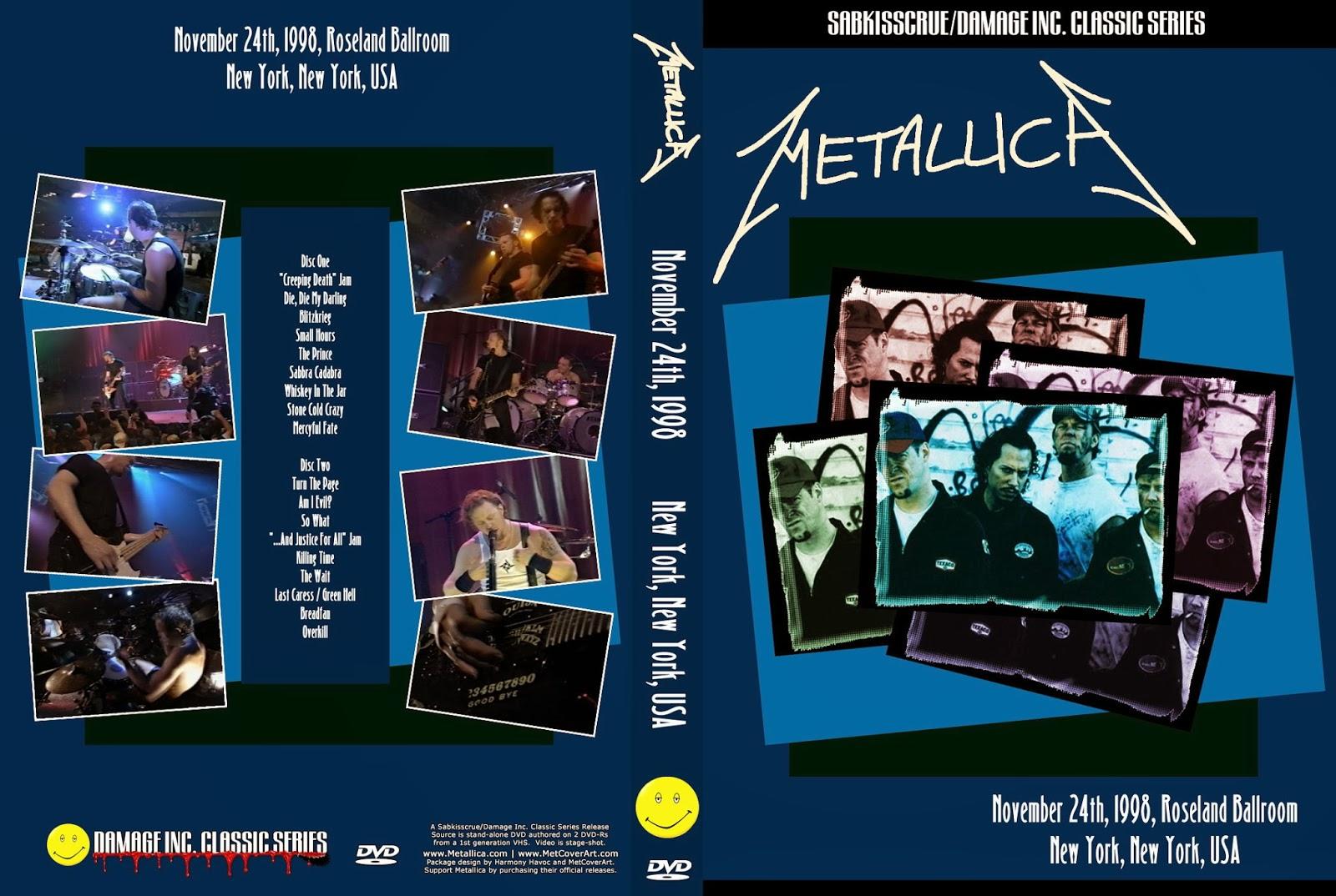 T.U.B.E.: Metallica - 1998-11-24 - New York, NY (2xDVDfull ...