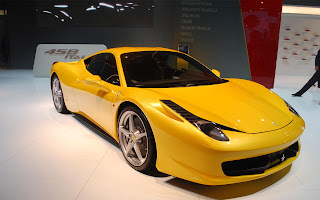 Ferrari 458 yellow car