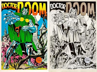 San Diego Comic-Con 2021 Exclusive Doctor Doom Marvelmania Screen Print by Jack Kirby x Mondo x Marvel Comics