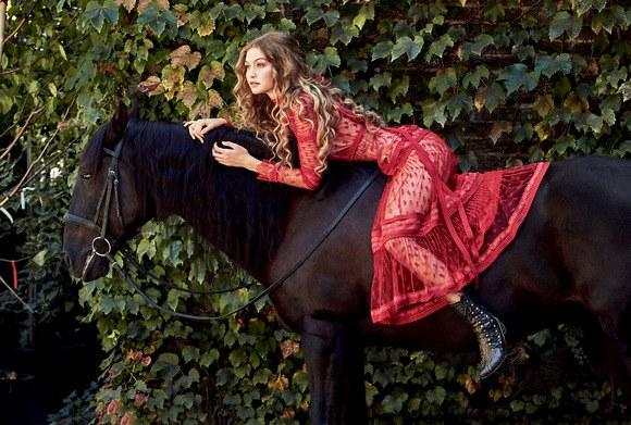 Gigi Hadid en couverture du magazine ALLURE - Décembre 2016