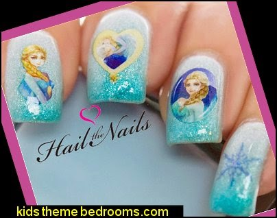 Frozen Nail Art Wraps Water Transfers Decals Elsa Olaf Anna Disney