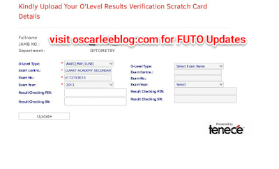 How to Verify O'Level Results for FUTO 2016/2017
