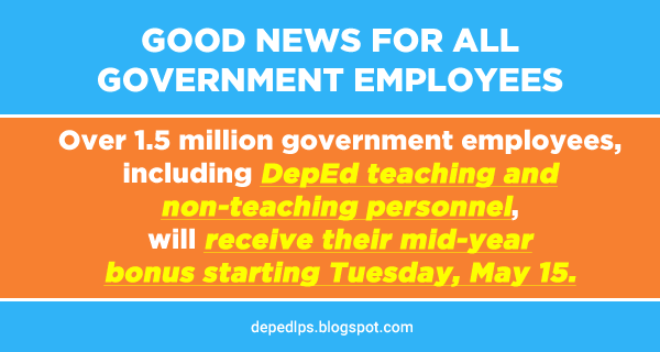 DBM: Government employees will receive mid-year bonuses starting Tuesday May 15