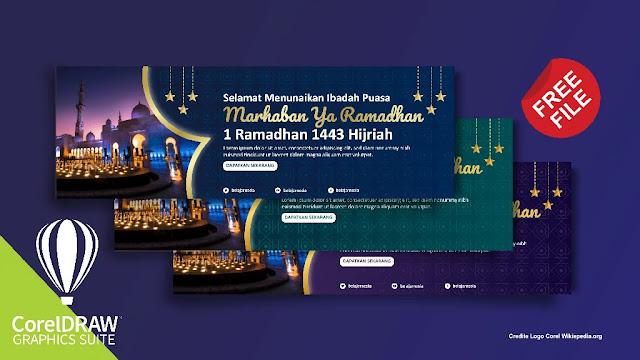 Free Spanduk :  Download 5 Banner Ramadhan 1442 Illustrator Dan Coreldraw Gratis
