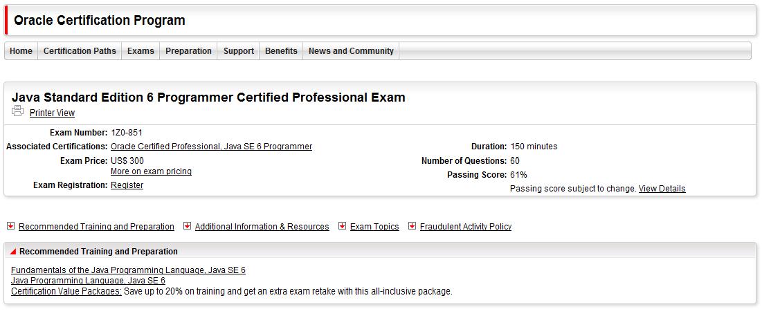 Java: News, Example, Best Practices, Tutorials: How to get certified ...