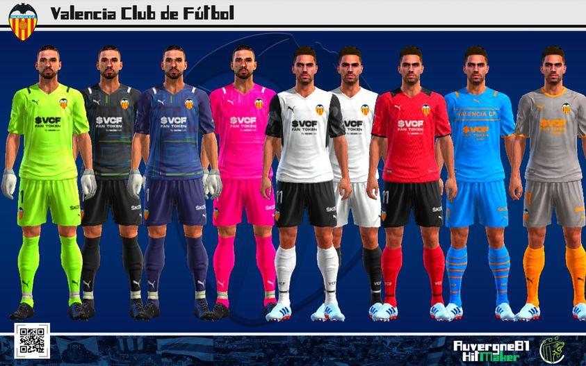 Kits Valencia CF 2021-2022 For PES 2013