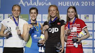 BÁDMINTON - Campeonato de Europa 2018 (Huelva, España): Carolina Marín hace historia alzando su cuarto título seguido. Viktor Axelsen recupera el cetro europeo