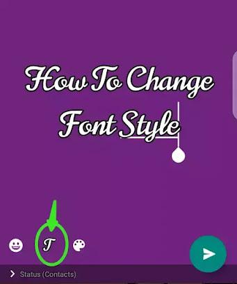 Change font style on whatsapp status