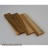 Parket lantai kayu jati grade B ukuran 25 cm