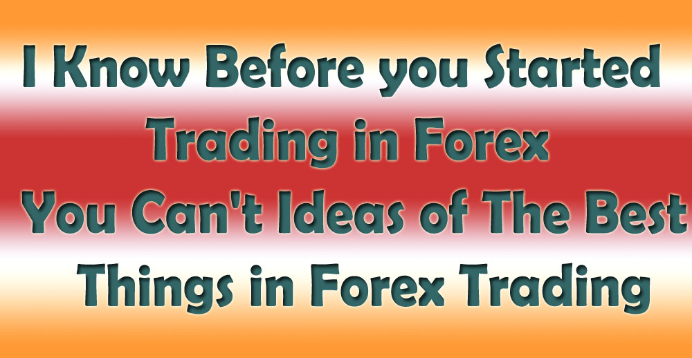 I Know Before you Started Trading in Forex, You Can't Ideas of The Best 5 Things in Forex Trading