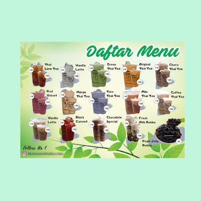 Desain menu thai tea